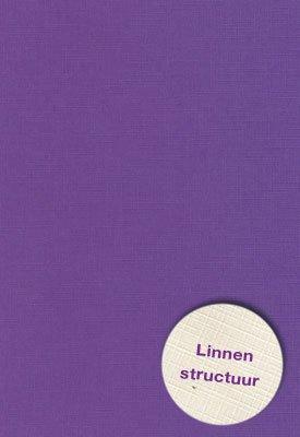 Hobbycentraal A5 Karton Linnen  10 vel   paars
