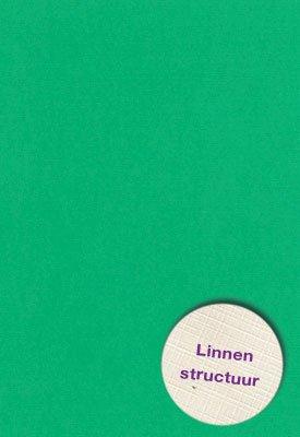 Hobbycentraal A5 Karton Linnen  10 vel   gras groen