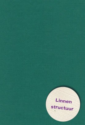 Hobbycentraal A5 Karton Linnen  10 vel   kerst groen