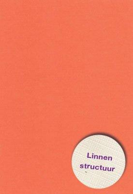 Hobbycentraal A5 Karton Linnen  10 vel   oranje