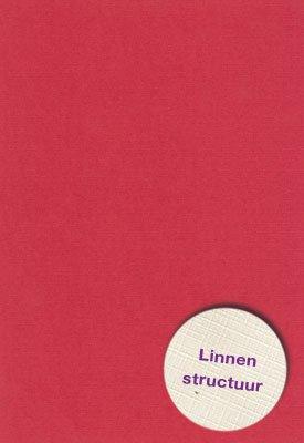 Hobbycentraal A5 Karton Linnen  10 vel   rood