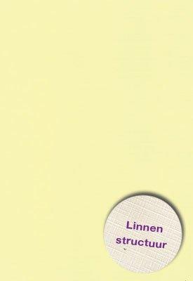 Hobbycentraal Karton 13,5_27cm Linnen  10 vel   geel