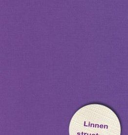 Hobbycentraal Karton 13,5_27cm Linnen  10 vel   paars
