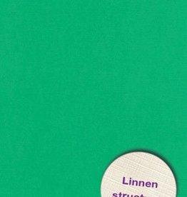 Hobbycentraal Karton 13,5_27cm Linnen  10 vel   gras groen