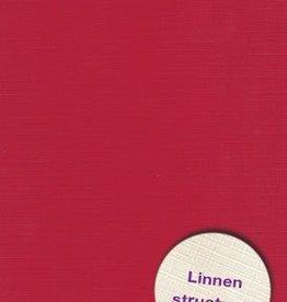 Hobbycentraal Karton 13,5_27cm Linnen  Kerst Rood