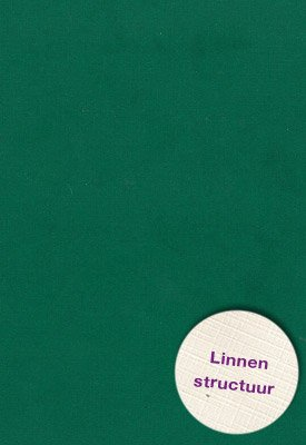Hobbycentraal Karton 13,5_27cm Linnen  10 vel   groen