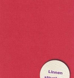 Hobbycentraal Karton 13,5_27cm Linnen  10 vel   rood