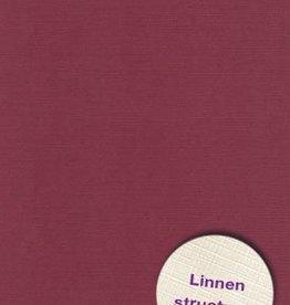 Hobbycentraal Karton 13,5_27cm Linnen  10 vel   bordeau