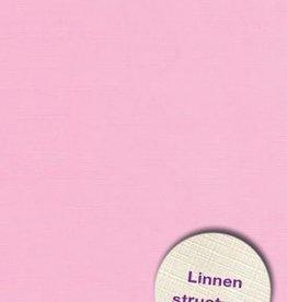 Hobbycentraal Karton 13,5_27cm Linnen  10 vel   roze
