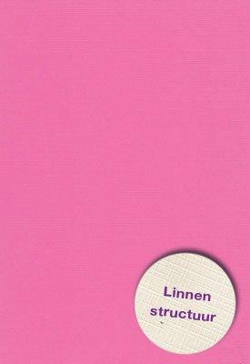 Hobbycentraal 13,5 x 27 cm  Linnen 10 vel Roze