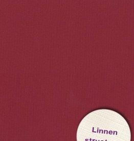 Hobbycentraal 13,5 x 27 cm  Linnen 10 vel  Donker Rood