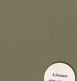 Hobbycentraal 13,5 x 27 cm  Linnen 10 vel Leger Bruin