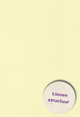 Hobbycentraal A4 Karton Linnen  10 vel   l. geel