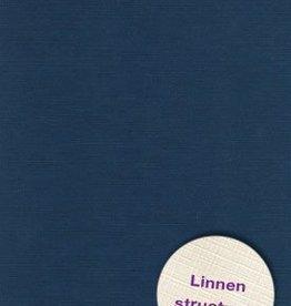 Hobbycentraal A4 Karton Linnen  10 vel   donker blauw