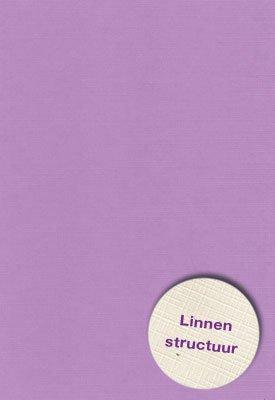 Hobbycentraal A4 Karton Linnen  10 vel   lila