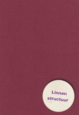 Hobbycentraal A4 Karton Linnen  10 vel   bordeux