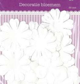 Hobby Idee Decoratie Bloemen Wit 35 mm