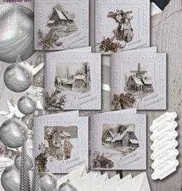 Creatief Art Kaarten set Kerst 6 kaarten