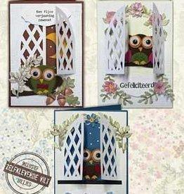 Creatief Art Flower Owls 01