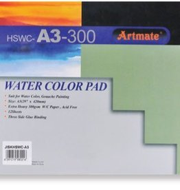 Artmate Artmate watercolour pad A3 300 gr 12 sheets