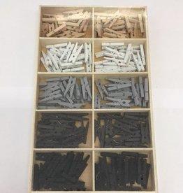 Mini wasknijpers basis kleuren 2,5 cm
