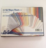 20 enveloppen en kaarten A5 Mix metallic