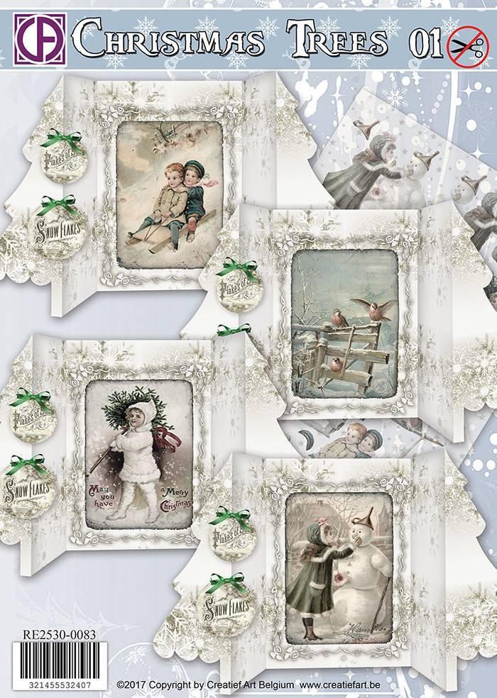 Creatief Art Christmas Trees 01