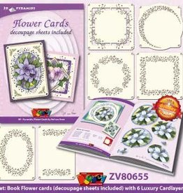 Doodey Pyramids book flowers + 6 cardlayers