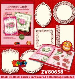 Doodey 3D Roses Card + 6 cardlayers