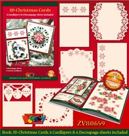 Doodey Book Xmas decoupage + 6 cardlayers