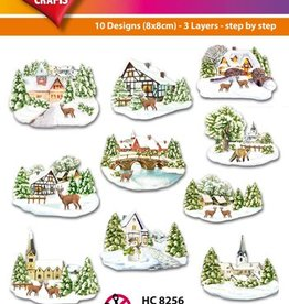 Hearty Crafts Easy 3D - Winter Village 6-9 cm