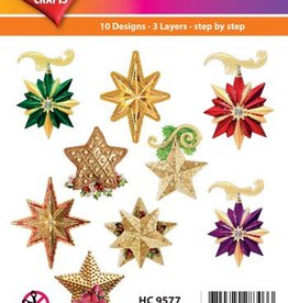 Hearty Crafts Easy 3D - X-Mas Stars