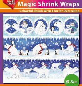 Hearty Crafts Magic Shrink Wraps, Polar Bears (ø 8 cm)