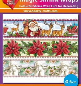 Hearty Crafts Magic Shrink Wraps, Christmas (⌀ 6 cm)