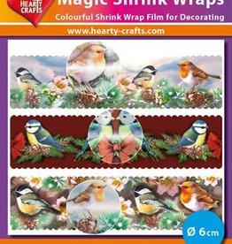 Hearty Crafts Magic Shrink Wraps, Metalic, Birds (⌀ 6 cm)