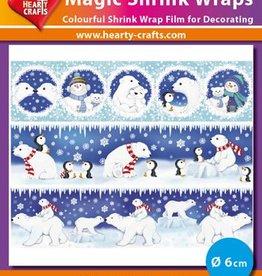 Hearty Crafts Magic Shrink Wraps, Polar bears (⌀ 6 cm)