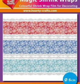 Hearty Crafts Magic Shrink Wraps, Snow Crystals (⌀ 6 cm)