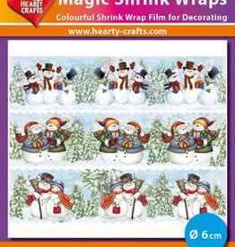 Hearty Crafts Magic Shrink Wraps, Snowmen (2) (⌀ 6 cm)