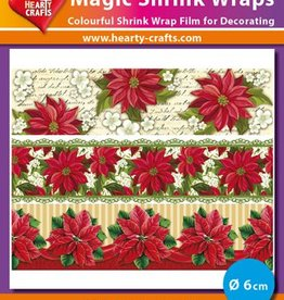 Hearty Crafts Magic Shrink Wraps, Poinsettia (⌀ 6 cm)