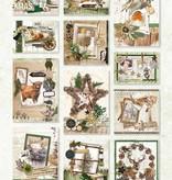 Studiolight STANSBLOK A4, CONTENT 12 SHEETS DIE CUT, WOODLAND WINTER NR.53