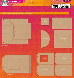 Studiolight MDF Journal (1) Mixed Media Rainbow Designs Nr. 01