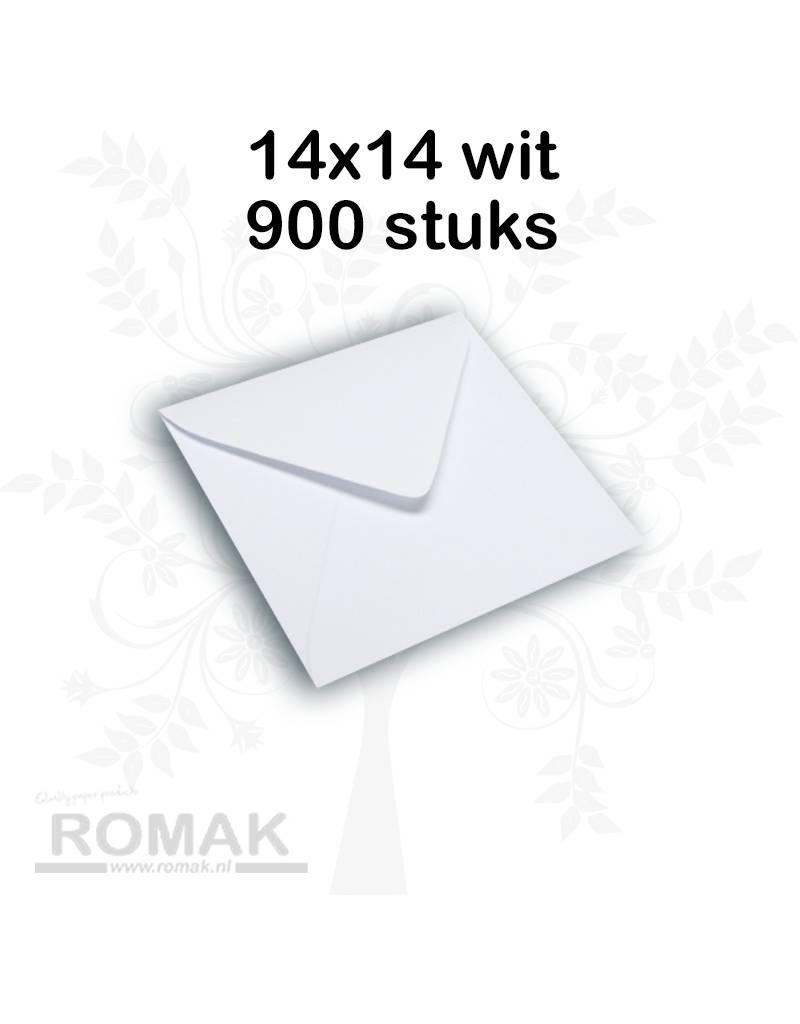 Enveloppen 100 grams 140 x 140 mm wit 900 stuks