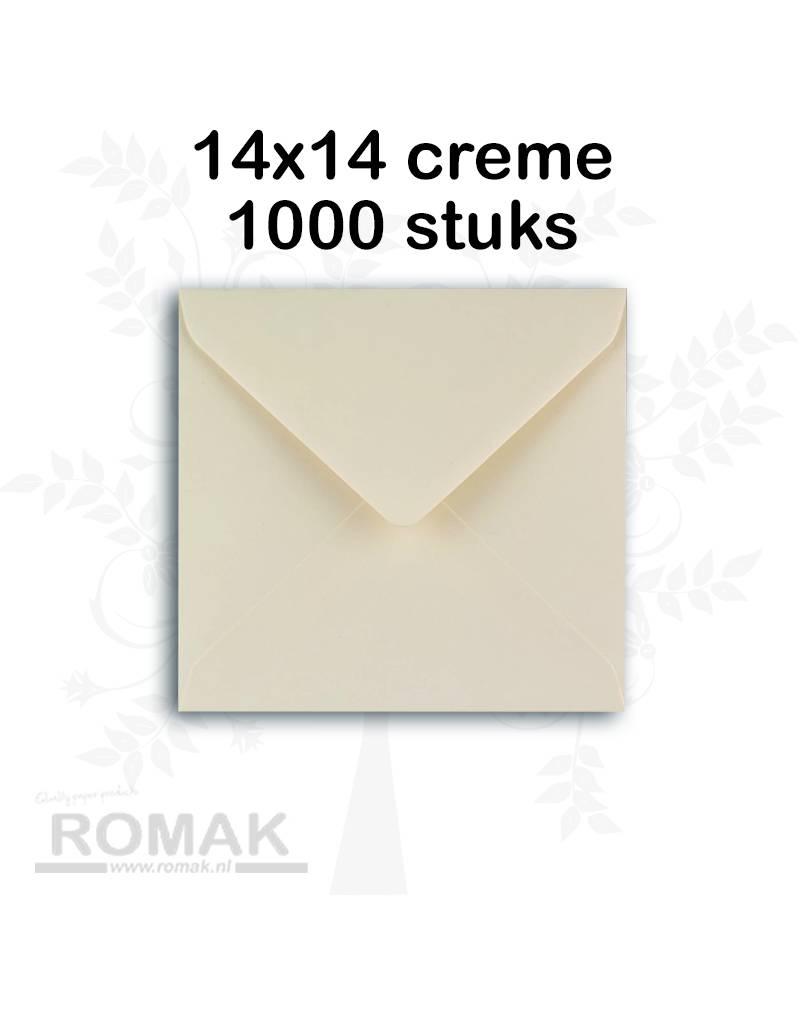 Enveloppen 100 grams 140 x 140 mm creme 1000 stuks