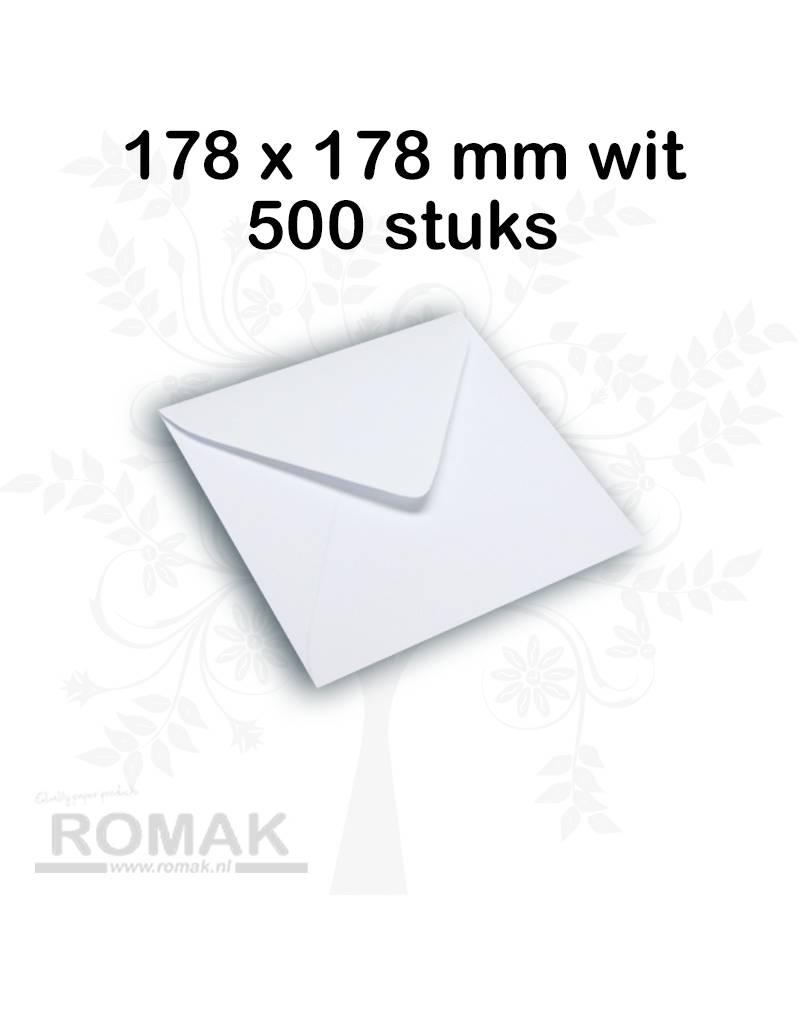 Enveloppen 100 grams 178 x 178 mm wit 500 stuks - Copy