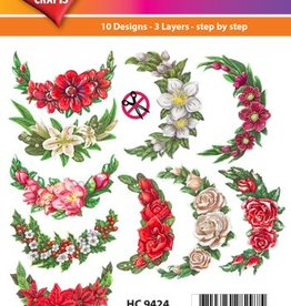 Hearty Crafts Easy 3D - Winter Flowers