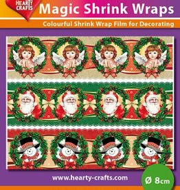 Hearty Crafts Magic Shrink Wraps, Christmas (⌀ 8 cm)
