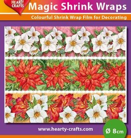 Hearty Crafts Magic Shrink Wraps, Winterflowers (⌀ 8 cm)