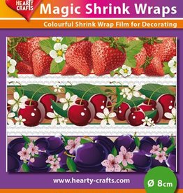 Hearty Crafts Magic Shrink Wraps, Fruit (⌀ 8 cm)