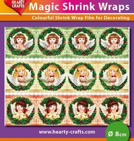 Hearty Crafts Magic Shrink Wraps, Angels (⌀ 8 cm)