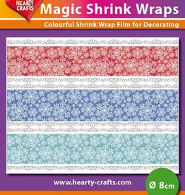 Hearty Crafts Magic Shrink Wraps, Snow Crystals (1) (⌀ 8 cm)